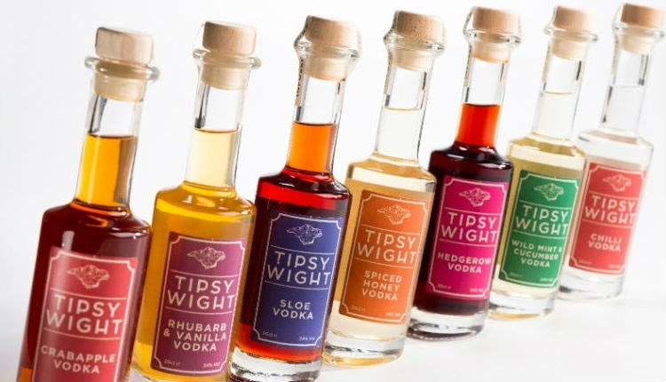 Selection of vodka from local producers, Tipsy Wight, local produce, Isle of Wight, let's buy local
