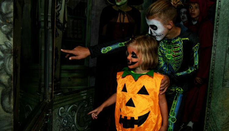 Children dressed up in halloween costumes at Blackgang Chine's Frights & Sprites event, Isle of Wight, What's On - Copyright: David Rutherford