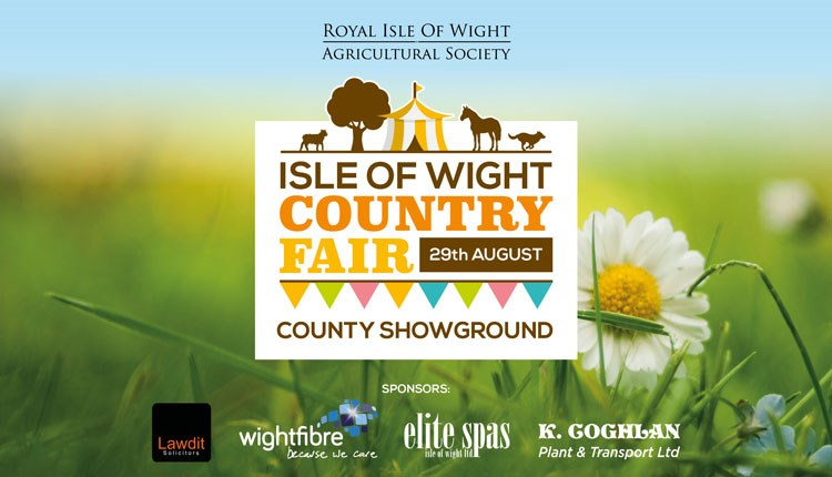 Isle of Wight Country Fair logo with sponsor logos, What's on, Cowes