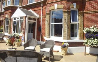 View of the front entrance of Brooke House, Shanklin, Isle of Wight, B&B
