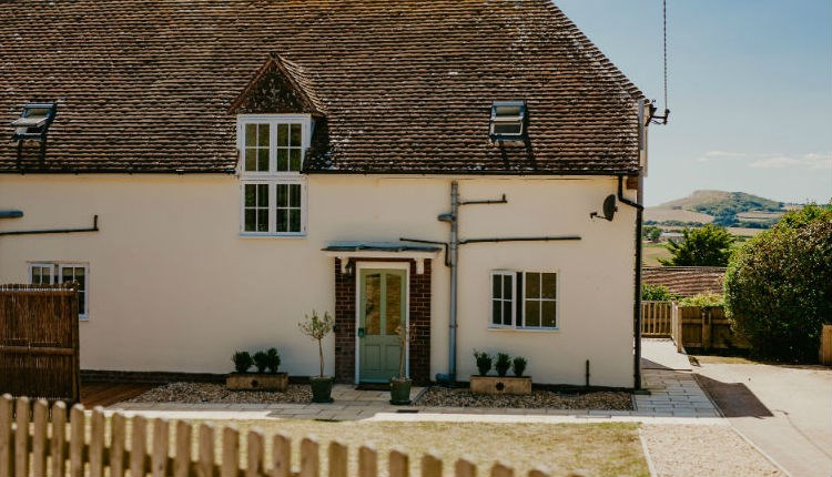 Outside view of Dairyman's Cottage, Tapnell Farm, Self-catering, West Wight, Isle of Wight
