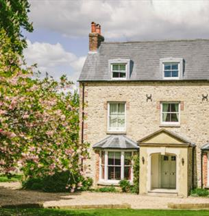 Outside view of East Afton Farmhouse, self-catering, West Wight, Isle of Wight