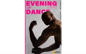 Dancer on poster for An Evening of Dance, virtual event, what's on