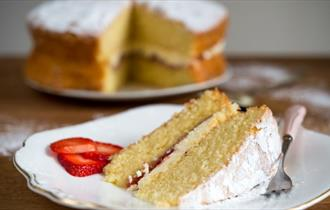 Image of Cake and Slice of Cake, Local Produce, Calbourne Classics, Shalfleet, Isle of Wight