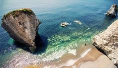 Mediterranean water at Freshwater Bay Beach, Isle of Wight, Things to Do