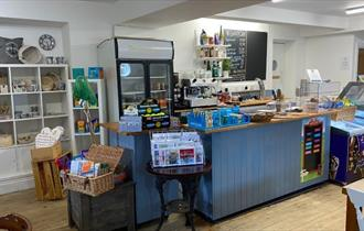 Gallery cafe at The Pilot Boat, Bembridge, Isle of Wight, eat and drink
