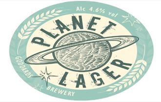 Image of Planet Larger Label, Isle of Wight, Local Produce, Goddards Brewery, Ryde