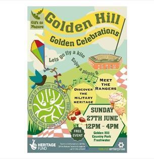 Golden Hill Golden Celebrations poster, Freshwater, What's On