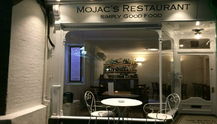 Outside view of Mojacs Restaurant and Bar, Cowes, Local Produce, eating out