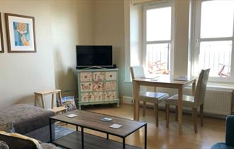 Lounge and dining area at Bayview, Ventnor, Isle of Wight, Self-catering