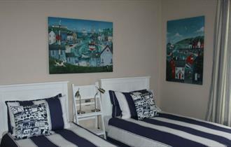 Twin bedroom at The St Leonards, Shanklin, B&B