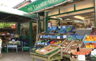 Tourist information point at Brighstone Village Shop, Isle of Wight