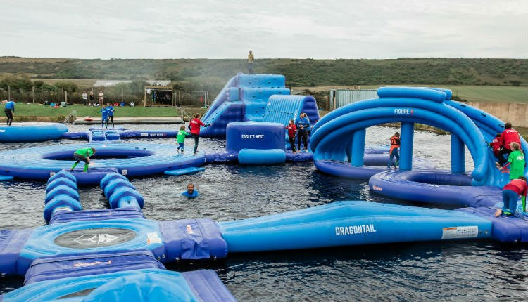View of the Isle of Wight Aqua Park at Tapnell Farm, Isle of Wight, Things to Do