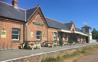 Isle of Wight, Things to Do, Isle of Wight Steam Railway, Walk the Line Yarmouth to Freshwater, Image of Off the Rails Restaurant at Yarmouth Station