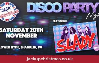 Jack Up Christmas at Lower Hyde Holiday Park in Shanklin, Isle of Wight, What's On