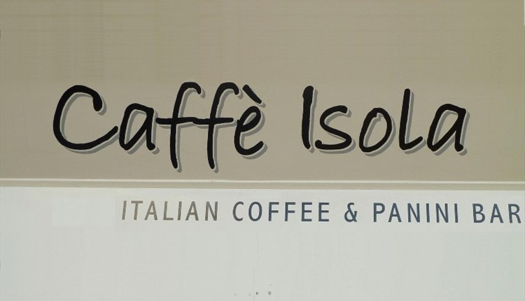 Isle of Wight, Eating Out, Caffe Isola, Newport, Italian Coffee and Panini Bar logo
