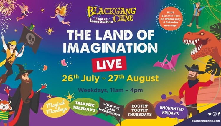 Isle of Wight, Things to Do, Blackgang Chine, Lane of Imagination, Poster