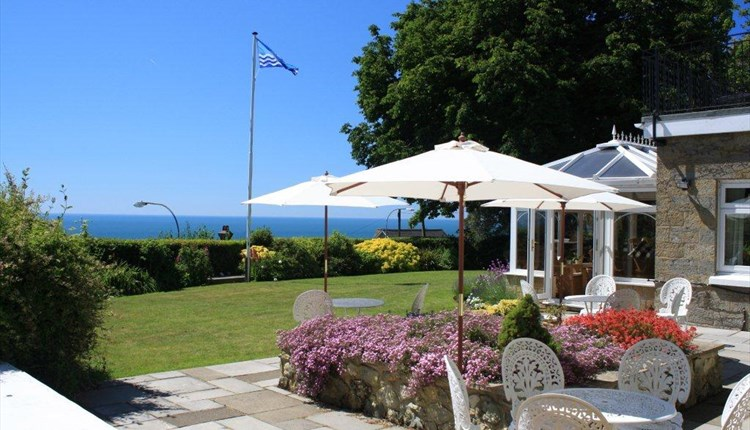 Patio at The Leconfield - Bed and Breakfast, Isle of Wight.
