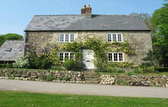 Outside view of holiday cottage at The Garlic Farm, Newchurch, self-catering