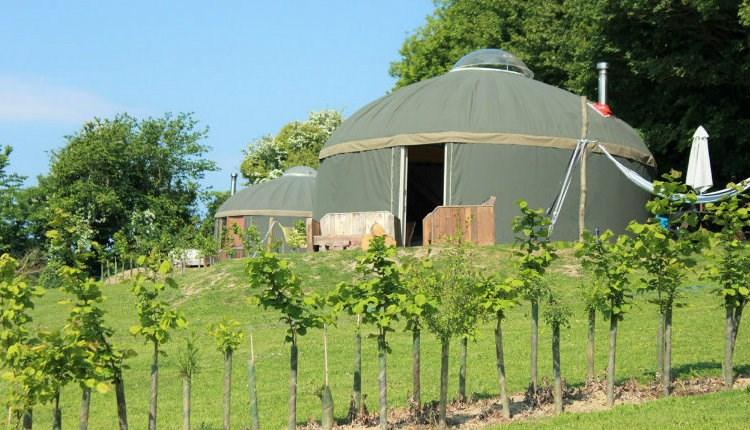 Glamping Self Catering Isle of Wight - Luxury Yurts on The Garlic Farm