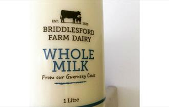 Isle of Wight Whole milk to buy at Briddlesford Lodge Farm, farm shop, local produce, let's buy local