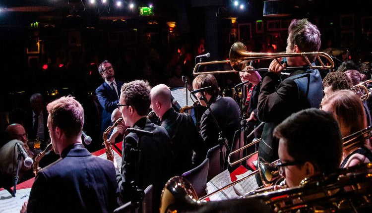 Isle of Wight, Festival, Jazz Weekend, Newport, Image of Brass Section of Orchestra