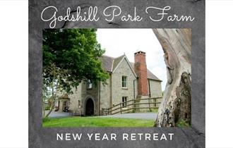 Outside view of Godshill Park Farm that hosts a New Year yoga retreat, Isle of Wight, What's On