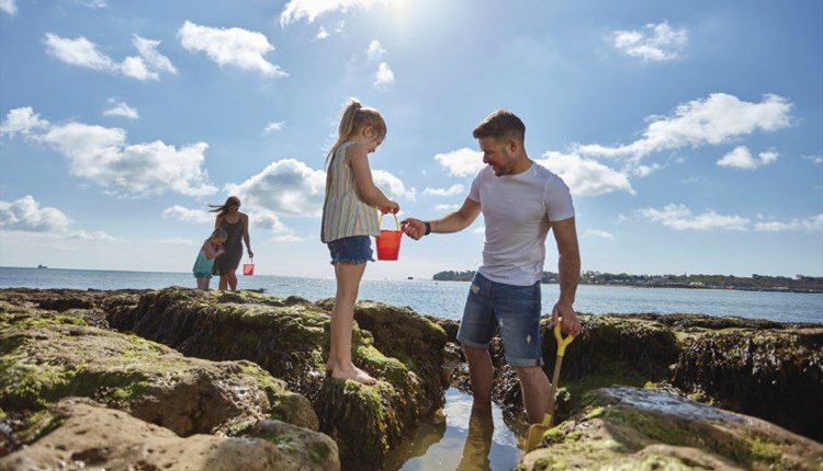 Nodes Point Holiday Park, Accommodation, Rock Pooling