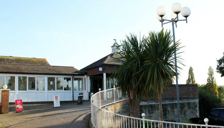 Outside view of Fitness Gurnard where The Food Shack is based, cafe, Isle of Wight