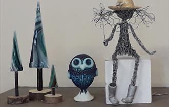 Art and craft at exhibition, What's On, Quarr Abbey, Isle of Wight
