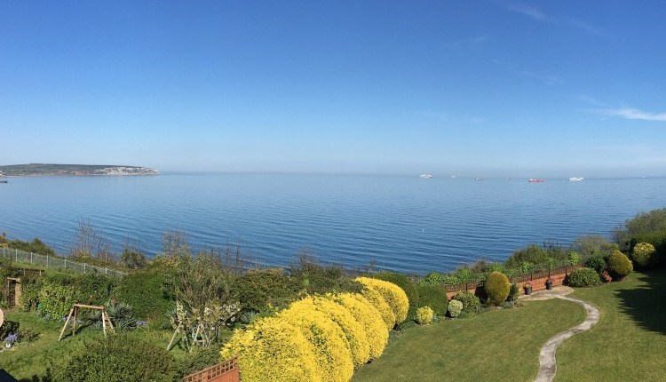 Seaview from garden at The Miclaran - Bed and Breakfast Isle of Wight
