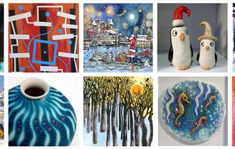 Christmas art gifts, exhibition at Quarr Abbey, Isle of Wight, What's On