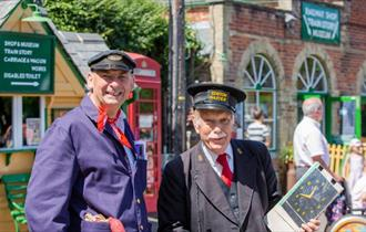 Isle of Wight, Things to Do, Isle of Wight Steam Railway, Image of two uniformed railway workers