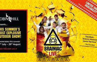 Isle of Wight, Robin Hill, Newport, Brainiac Live Event, Family Fun, Logo