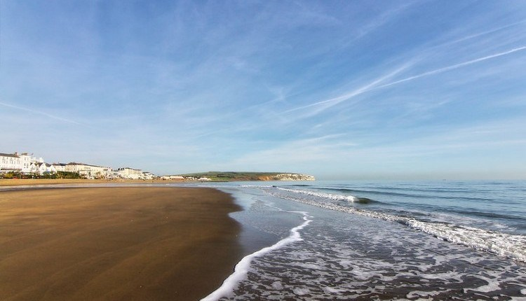 Sunny day at Sandown beach, Isle of Wight, Things to Do