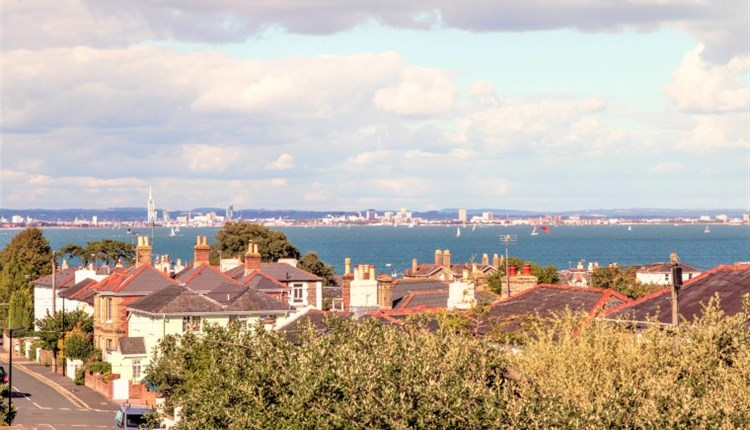 Isle of Wight, Accommodation, Ryde, SeaviewsinRyde. View from top bedroom of Sea and mainland in distance