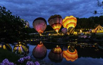 Hot air balloons at the Sky High Night Glow event  at Robin Hill, Isle of Wight, What's On, Things to Do