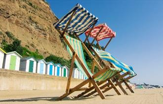 Deck chairs at Small Hope Beach, Shanklin, Isle of Wight, Things to Do