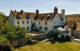 Outside rear view of Tapnell Manor, Self-catering, West Wight, Isle of Wight