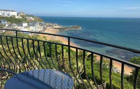Balcony with seaviews at Beach View Apartment, Ventnor, Isle of Wight, Self-catering