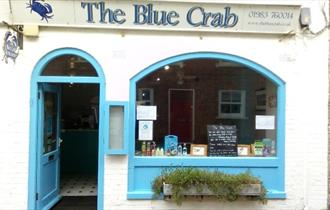 Outside of The Blue Crab Restaurant, Yarmouth, eat and drink