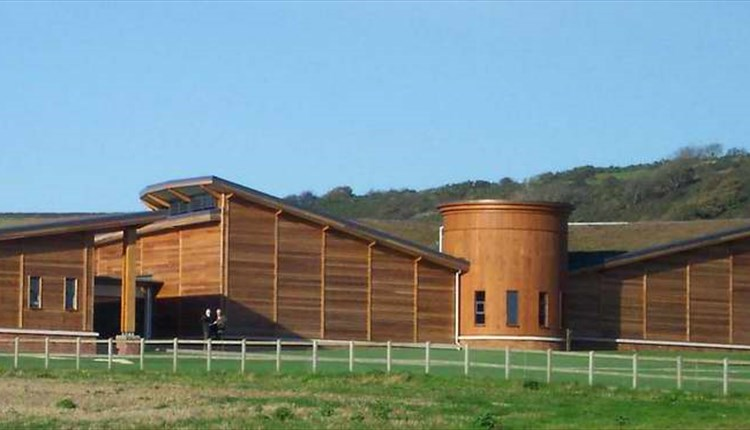 Outside view of Brading Roman Villa, Isle of Wight, Things to Do