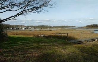 Isle of Wight, Accommodation, Campsite, Corf Scout Campsite, Shalfleet, Creek