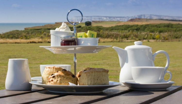 Isle of Wight, Food and Drink, Isle of Wight Pearl, Cream Tea with a view, Brighstone, WEST WIGHT