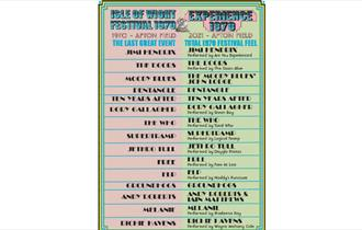 Lineup at Experience 1970, What's On Isle of Wight, Things to Do, Festival, East Afton Farm, West Wight, Live Music, Concerts