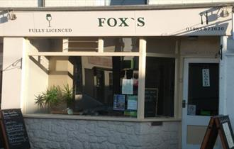 Outside view of Fox's Restaurant, Bembridge, local produce, let's buy local