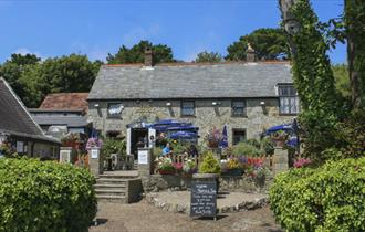 Outside view of The Buddle Smuggler's Inn, Niton, local produce, let's buy local
