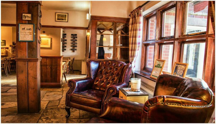 Inside lounge area at The Red Lion, Freshwater, local produce, let's buy local
