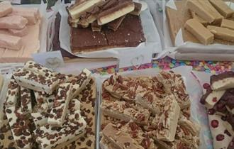 Variety of fudge produced by Isle of Fudge, lsle of Wight, local producers, local produce, let's buy local