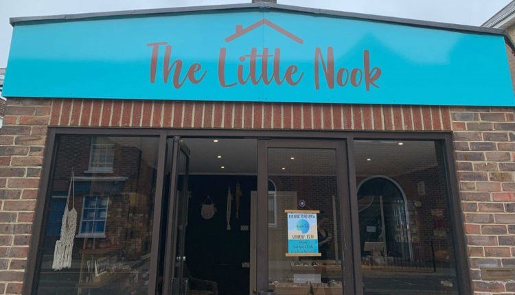 Outside view of The Little Nook, Newport, farm shop, local produce, let's buy local